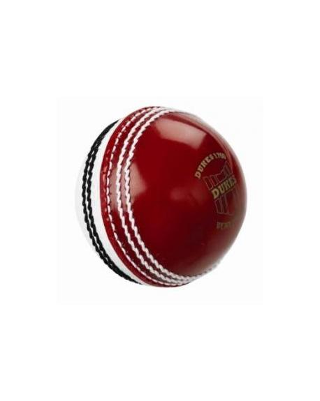 Dukes RED/WHITE Trainer Soft Impact Safety Cricket Ball - JUNIOR