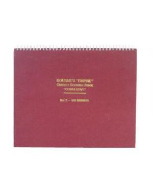 "Bourne's ""Empire"" Cricket Wire Bound Scoring Book ""Cumulative"" No.2 - 100 Innings"