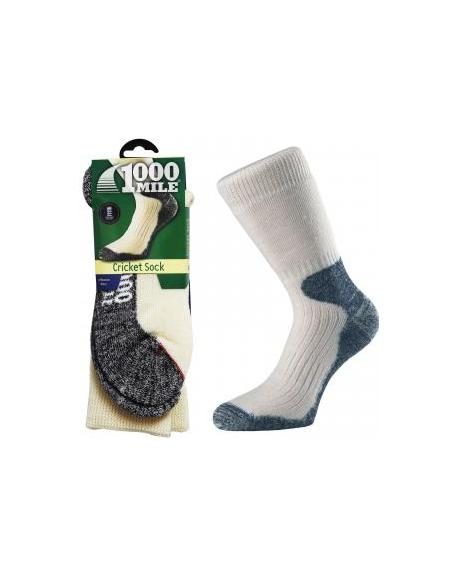 1000 Mile Heavyweight Merino Wool Padded Winter Cricket Sports Comfort Socks