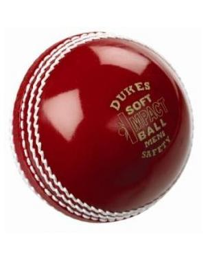 Dukes RED Soft Impact Safety Cricket Ball - JUNIOR